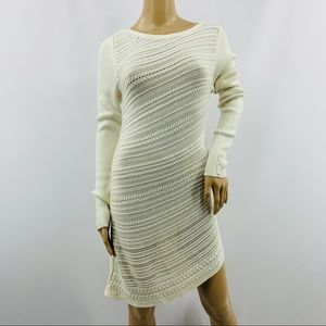 White House Black Market Long Sleeve Sweater Dress